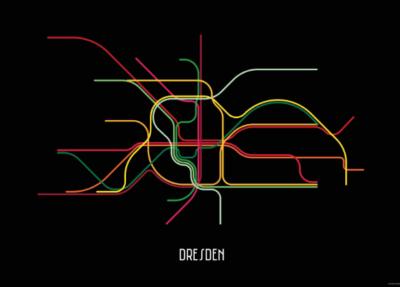 Blackcitylines Plakat Straßenbahn DVB Dresden Geschenk Idee